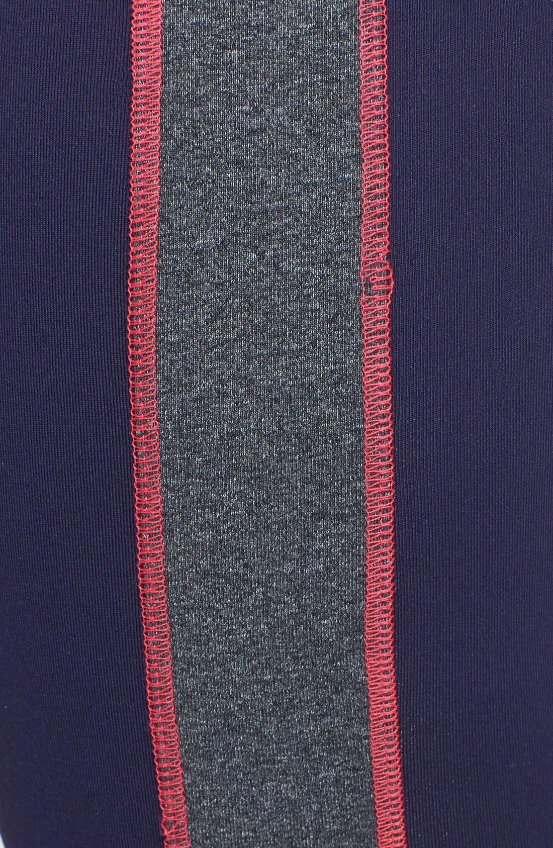Alternate Image 4  - Solow Colorblock Crop Leggings