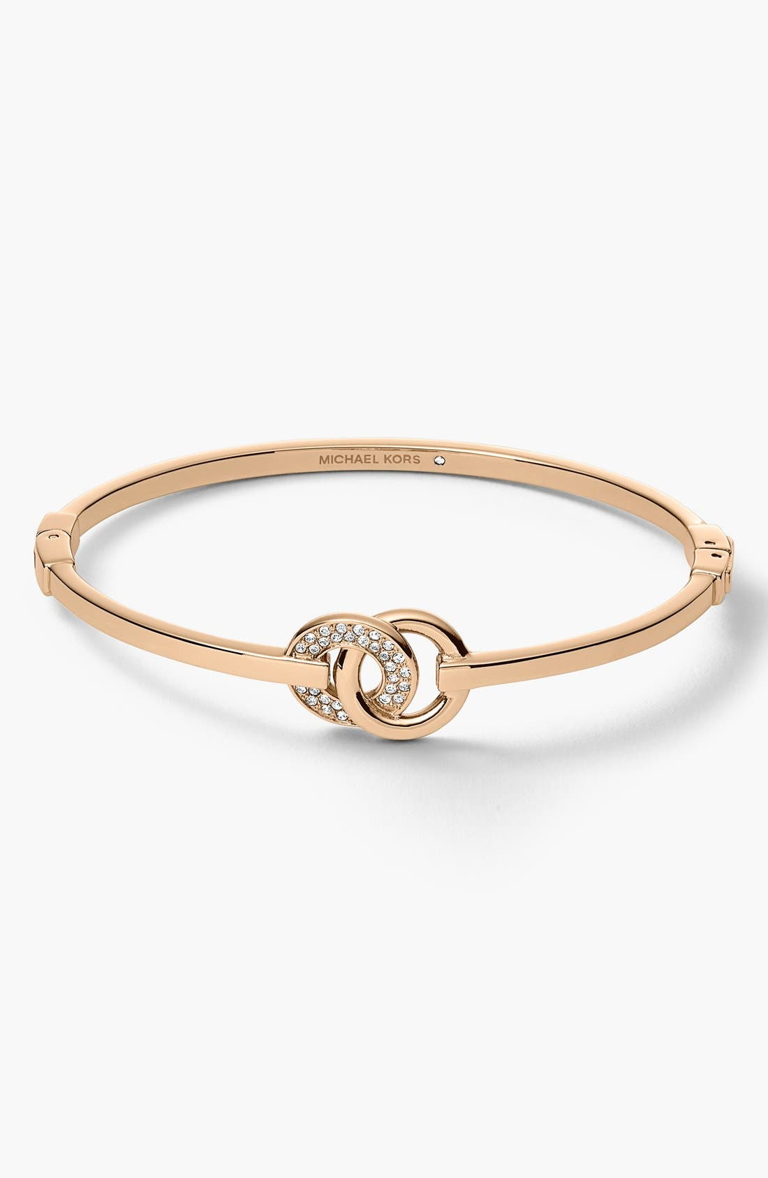 Main Image - Michael Kors 'Statement Brilliance' Double Ring Hinge Bangle