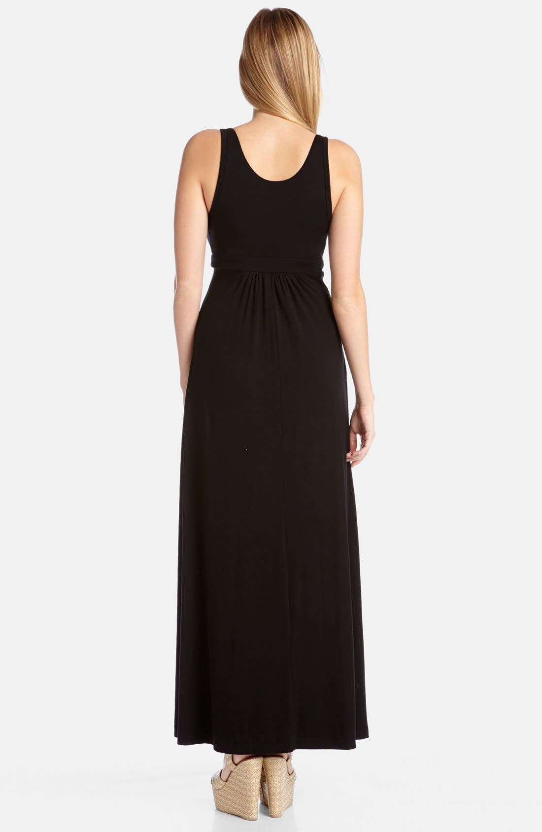 Alternate Image 2  - Karen Kane 'Julie' Surplice Jersey Maxi Dress
