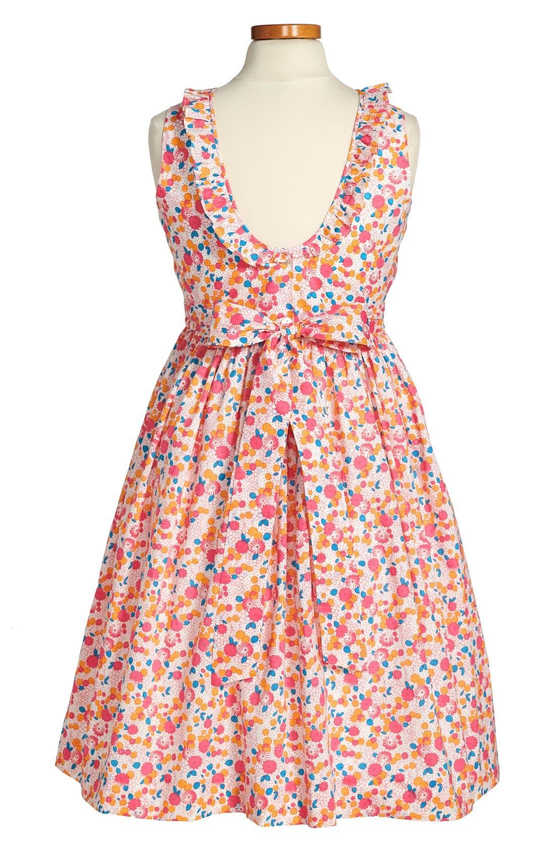 Alternate Image 2  - Oscar de la Renta Ruffle Collar Dress (Toddler Girls, Little Girls & Big Girls)