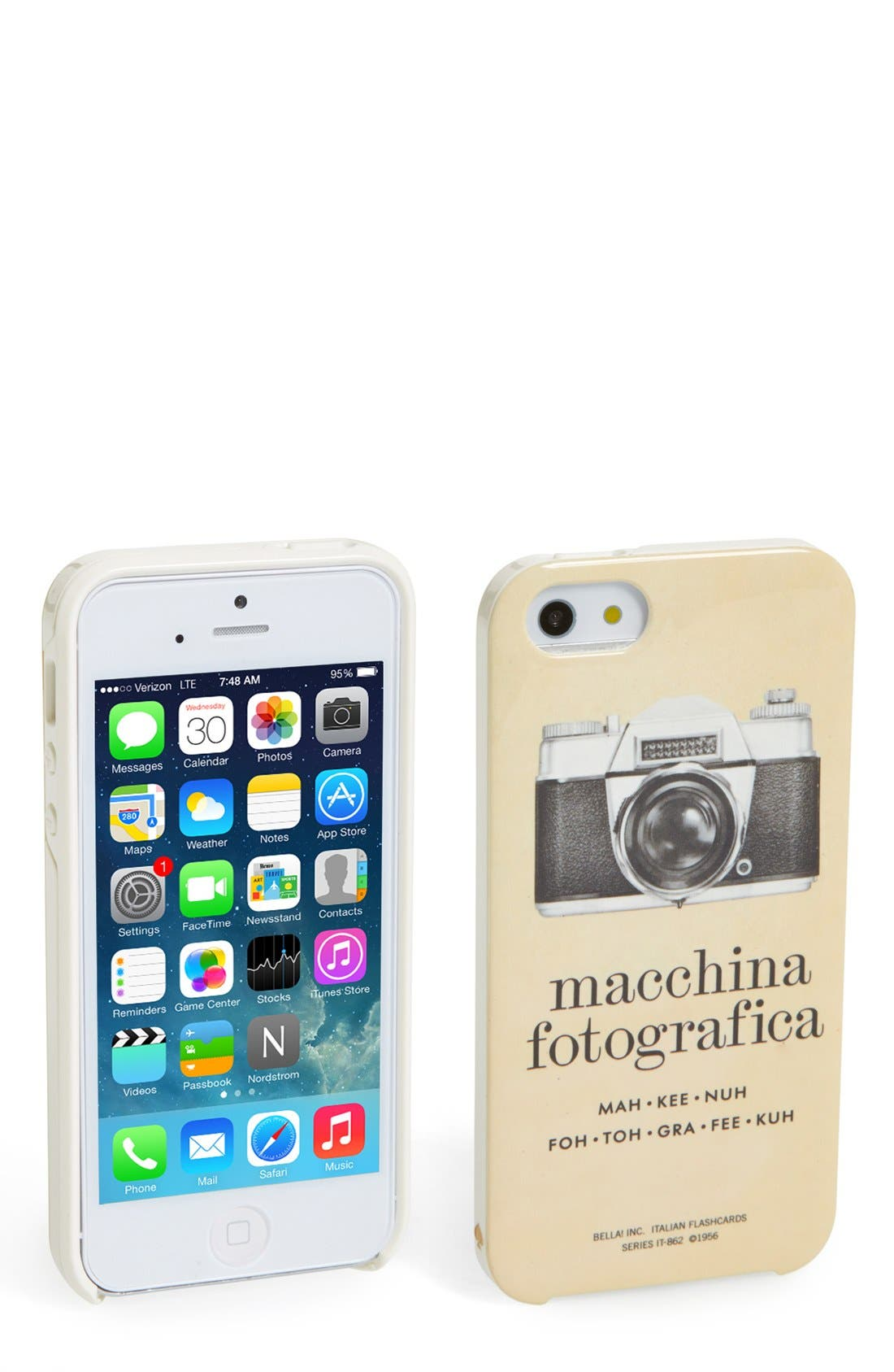 Main Image - kate spade new york 'italian flashcards' iPhone 5 & 5s case