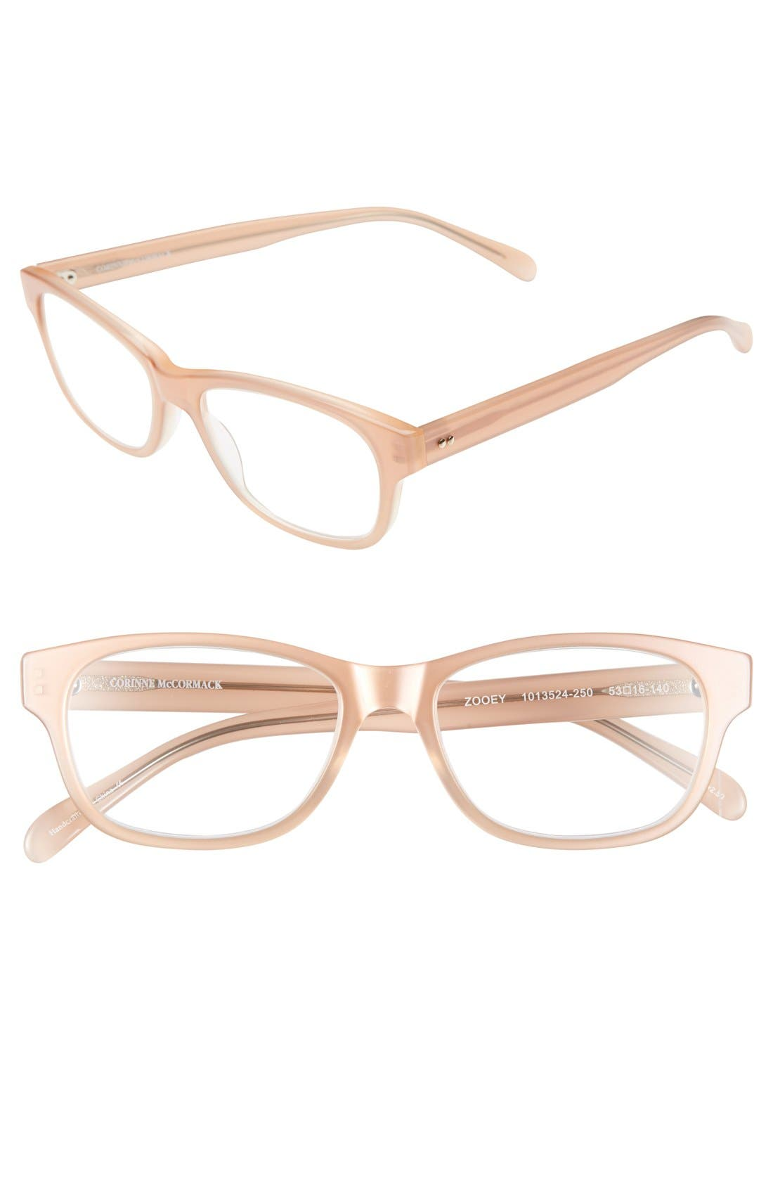 Main Image - Corinne McCormack 'Zooey' 53mm Reading Glasses (2 for $88)