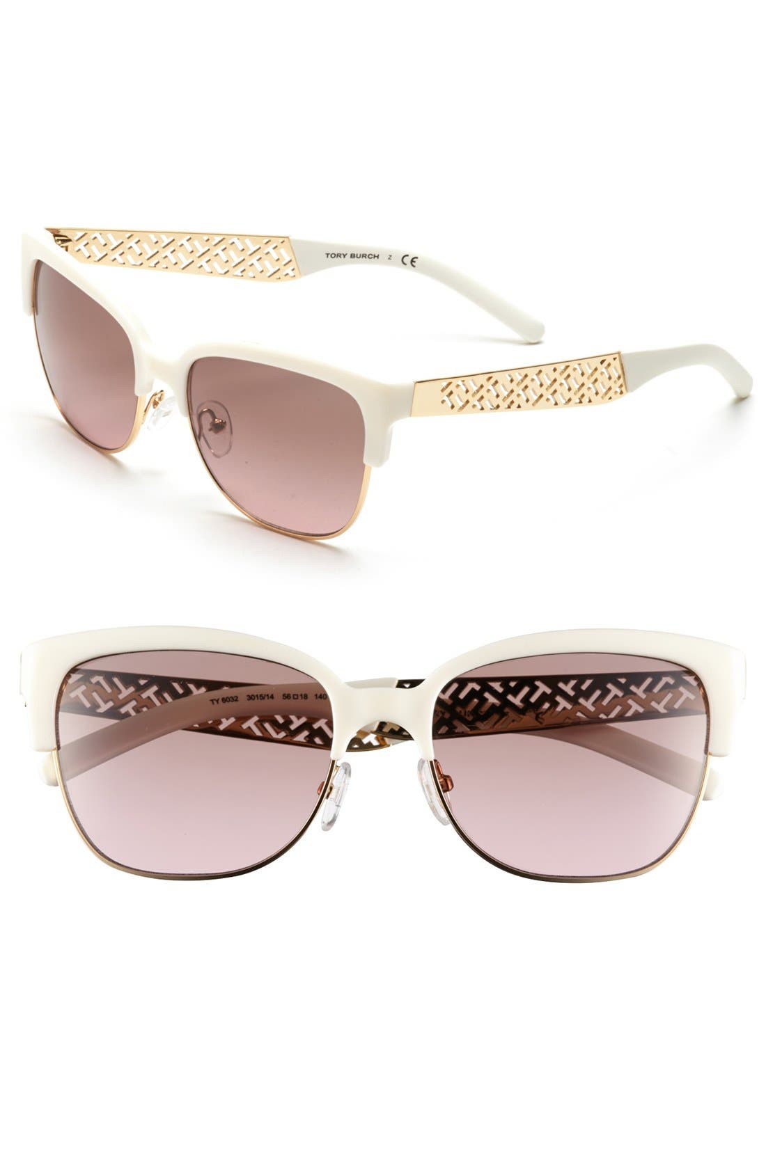Alternate Image 1 Selected - Tory Burch 56mm Cat Eye Sunglasses