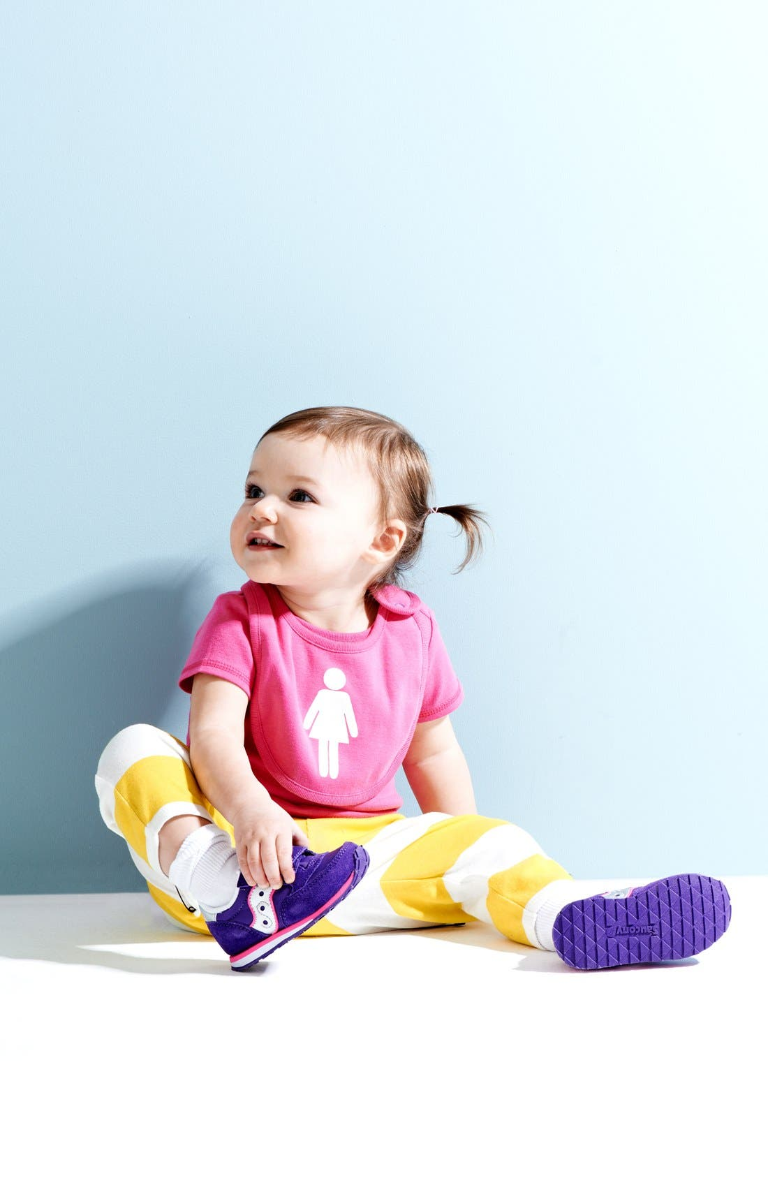 Main Image - Stem Baby Organic Cotton Tee, Pants & Bib (Baby Girls)