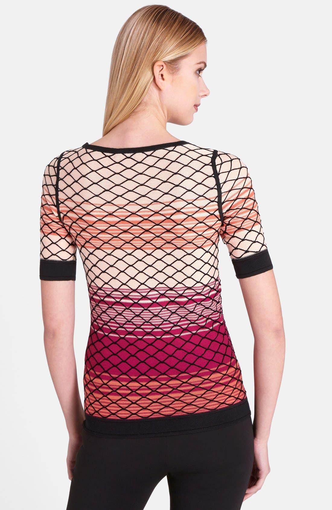 Alternate Image 2  - Catherine Catherine Malandrino 'Bay' Mesh Pattern Top