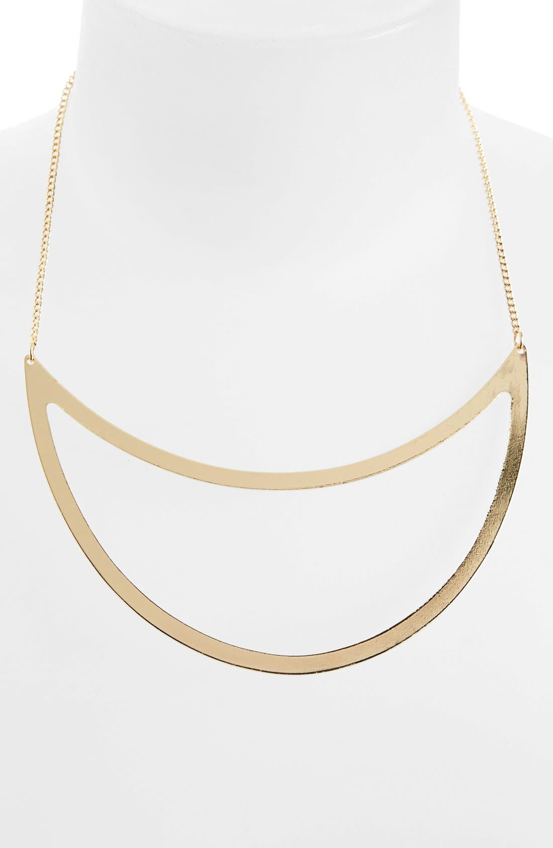 Alternate Image 1 Selected - Topshop Cutout Crescent Necklace