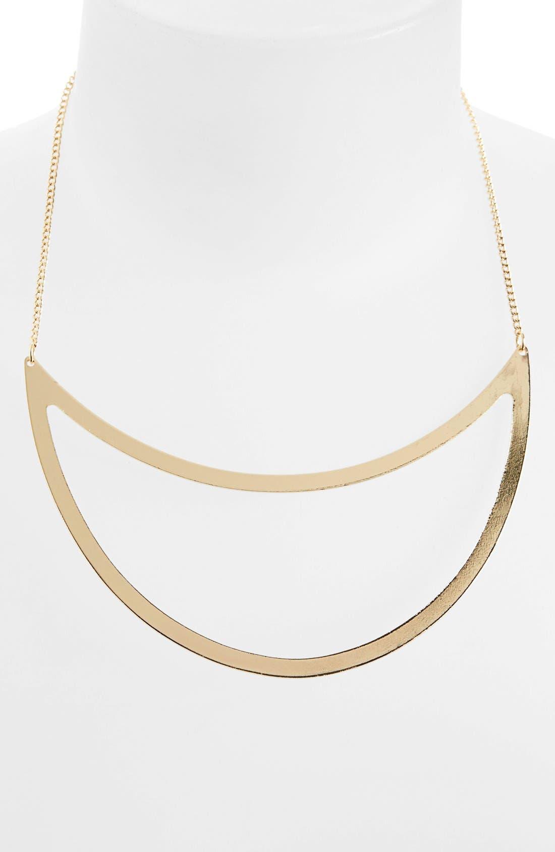 Main Image - Topshop Cutout Crescent Necklace