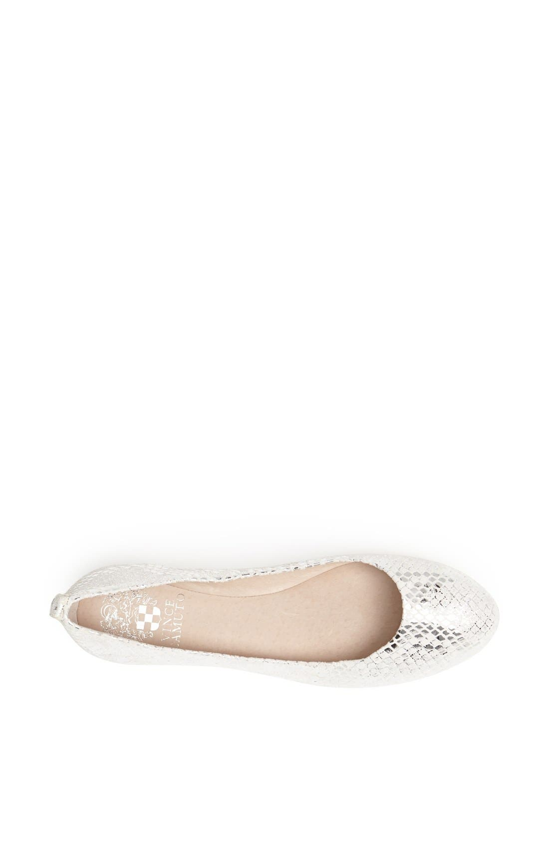 Alternate Image 3  - Vince Camuto 'Benningly' Snake Embossed Metallic Leather Ballet Flat