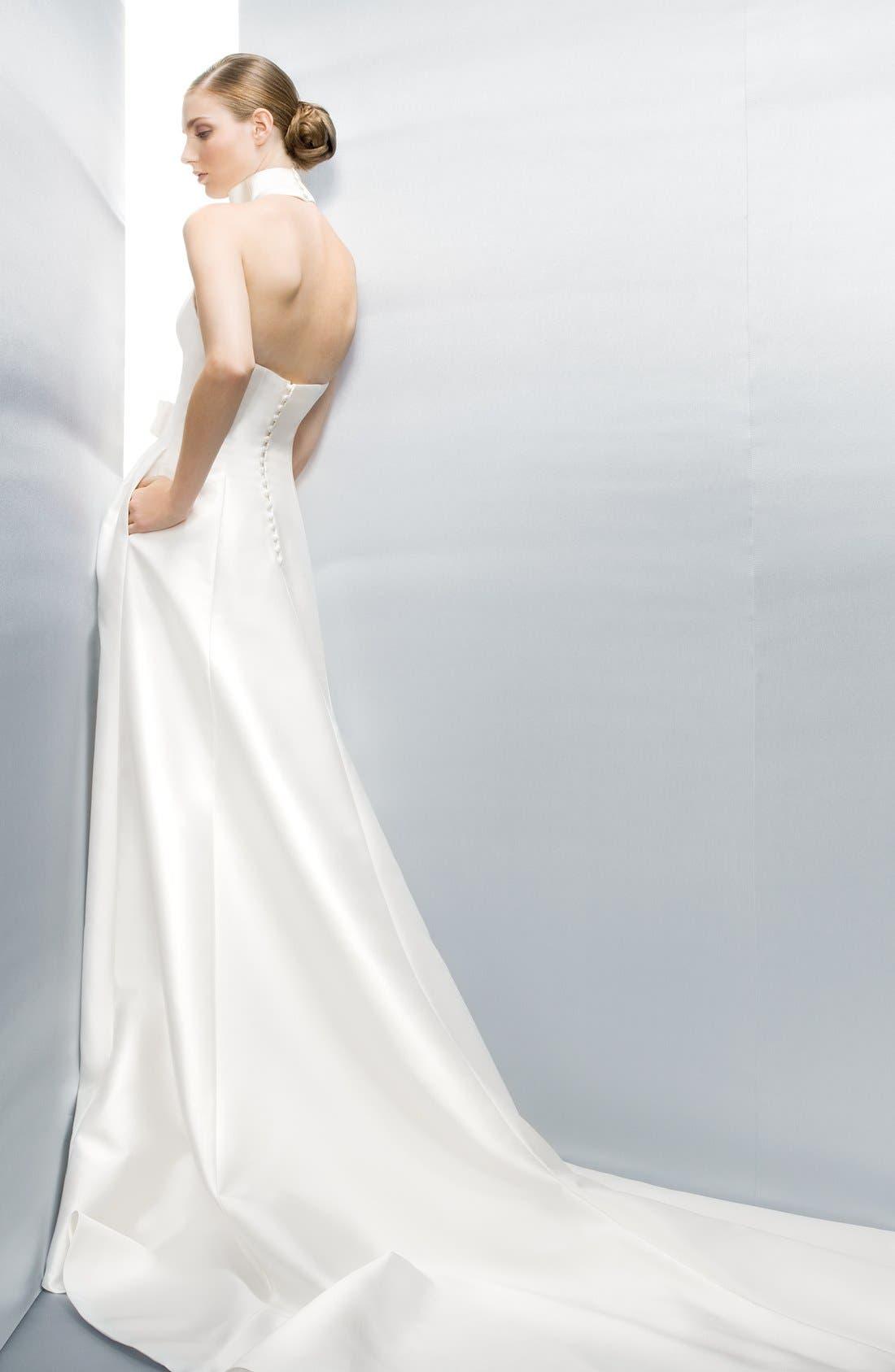 Alternate Image 5  - Jesús Peiró Martina Mikado Halter Dress
