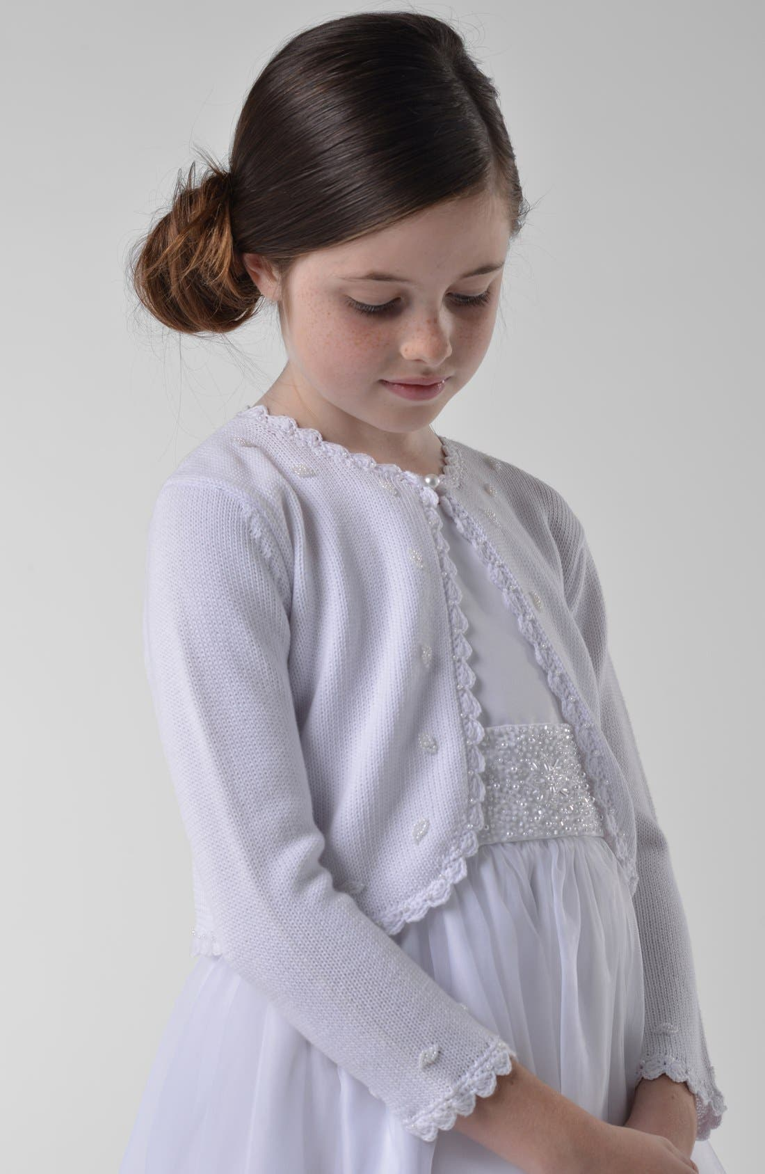Alternate Image 1 Selected - Us Angels Bolero Sweater (Little Girls & Big Girls)