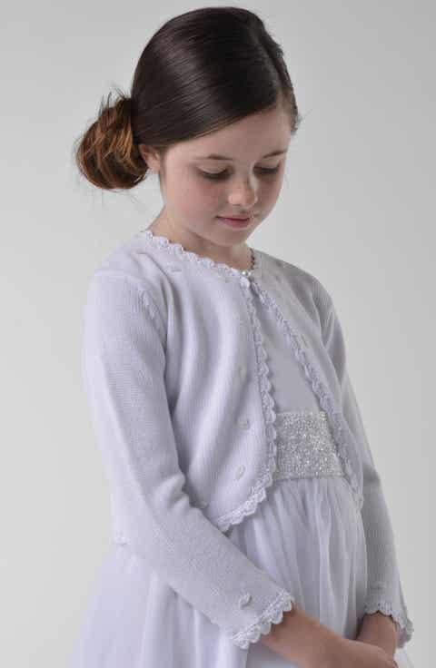 Girls' White Sweaters: Cardigan, Knit & Crewneck | Nordstrom