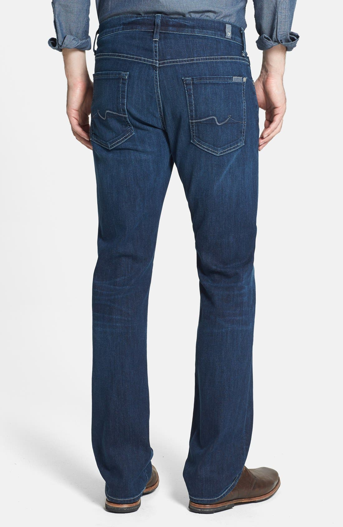 Alternate Image 2  - 7 For All Mankind® 'Carsen - Luxe Performance' Straight Leg Jeans (Venice Waters)