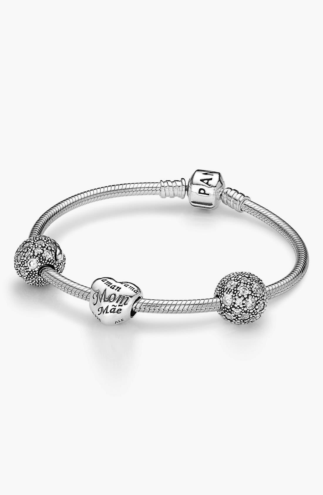 Alternate Image 1 Selected - PANDORA 'Forever in My Heart' Boxed Charm Bracelet Set ($250 Value)