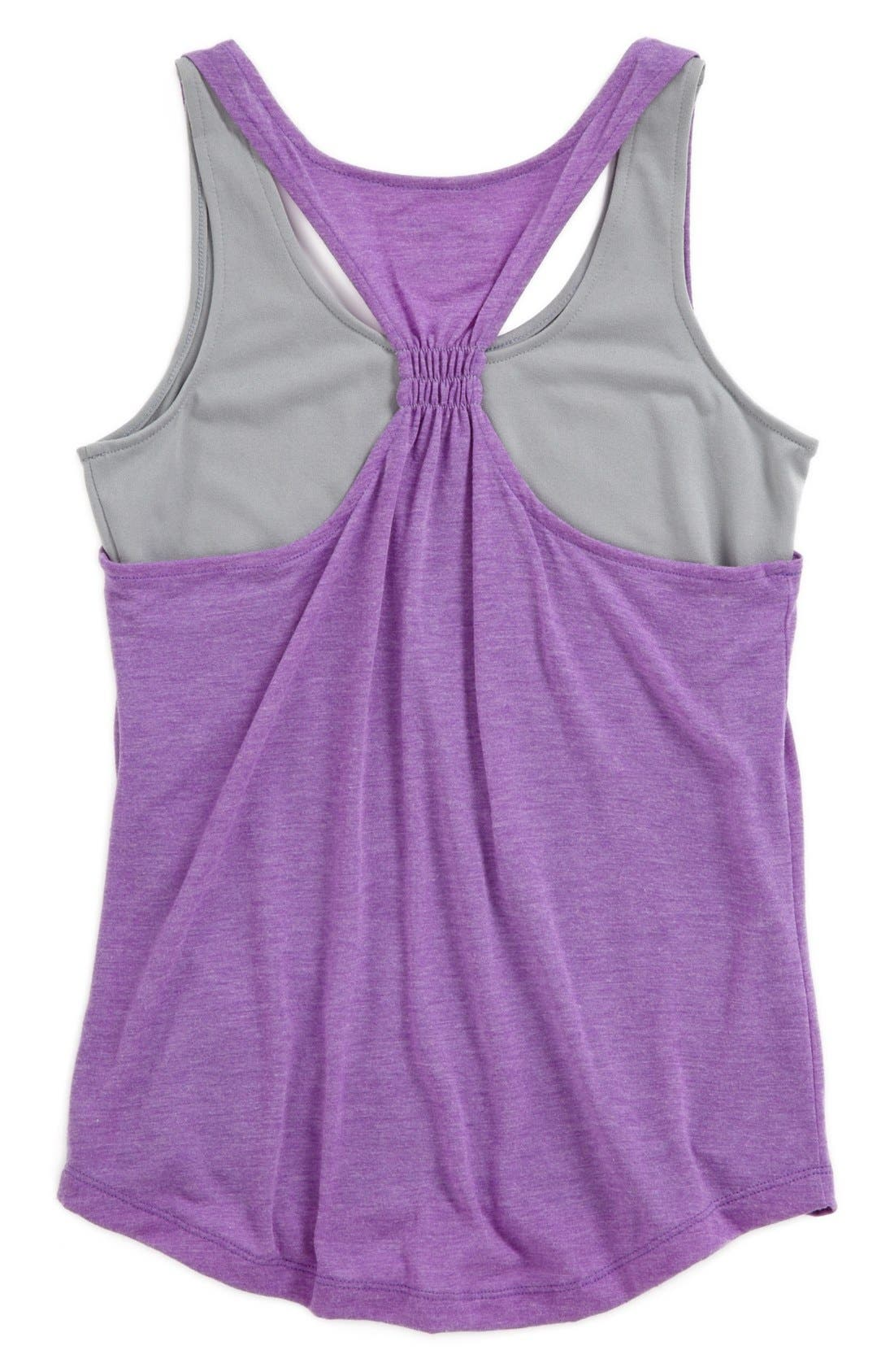 Alternate Image 2  - Under Armour 'Double the Fun' Tank Top (Big Girls)