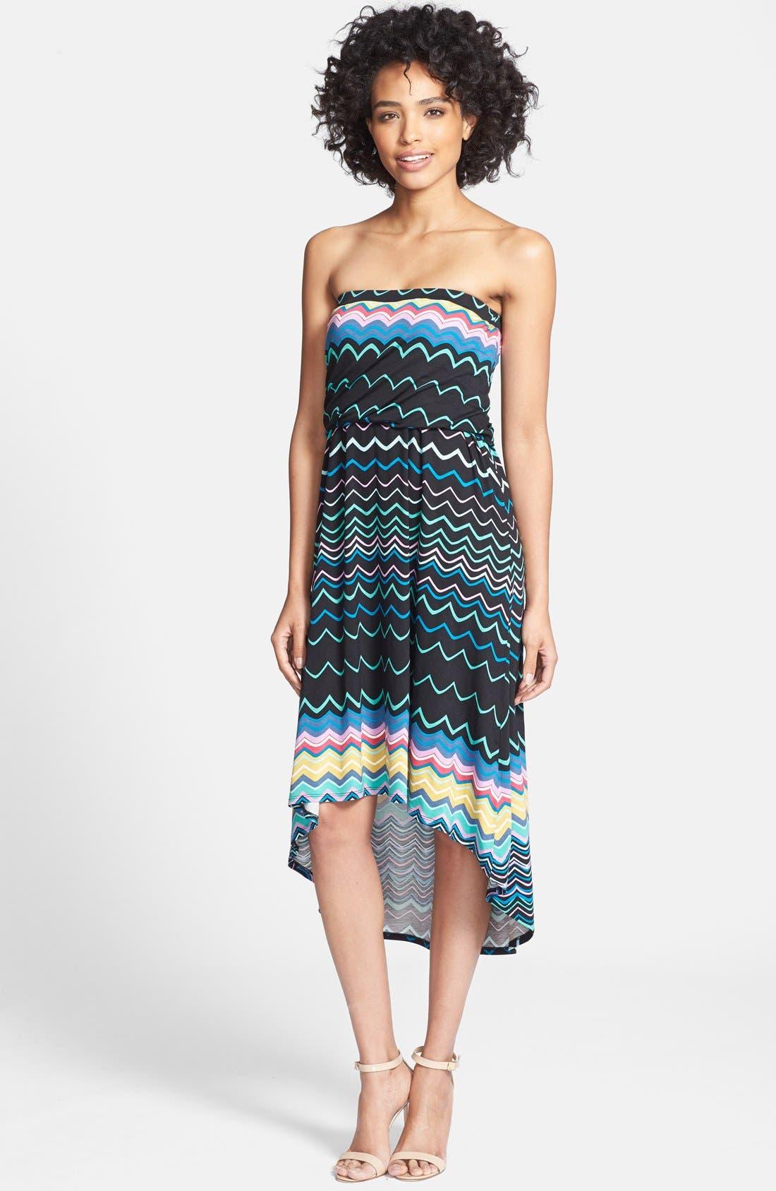Alternate Image 1 Selected - Felicity & Coco Strapless Blouson Jersey Dress (Regular & Petite) (Nordstrom Exclusive)
