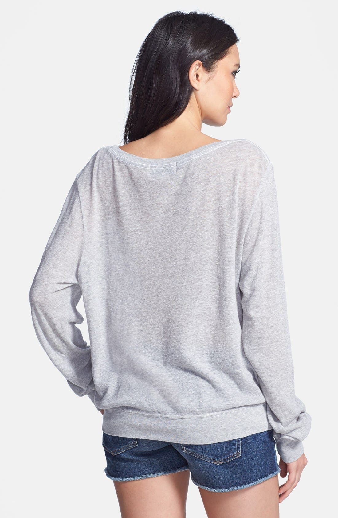 Alternate Image 2  - Wildfox Heathered Jersey Pullover