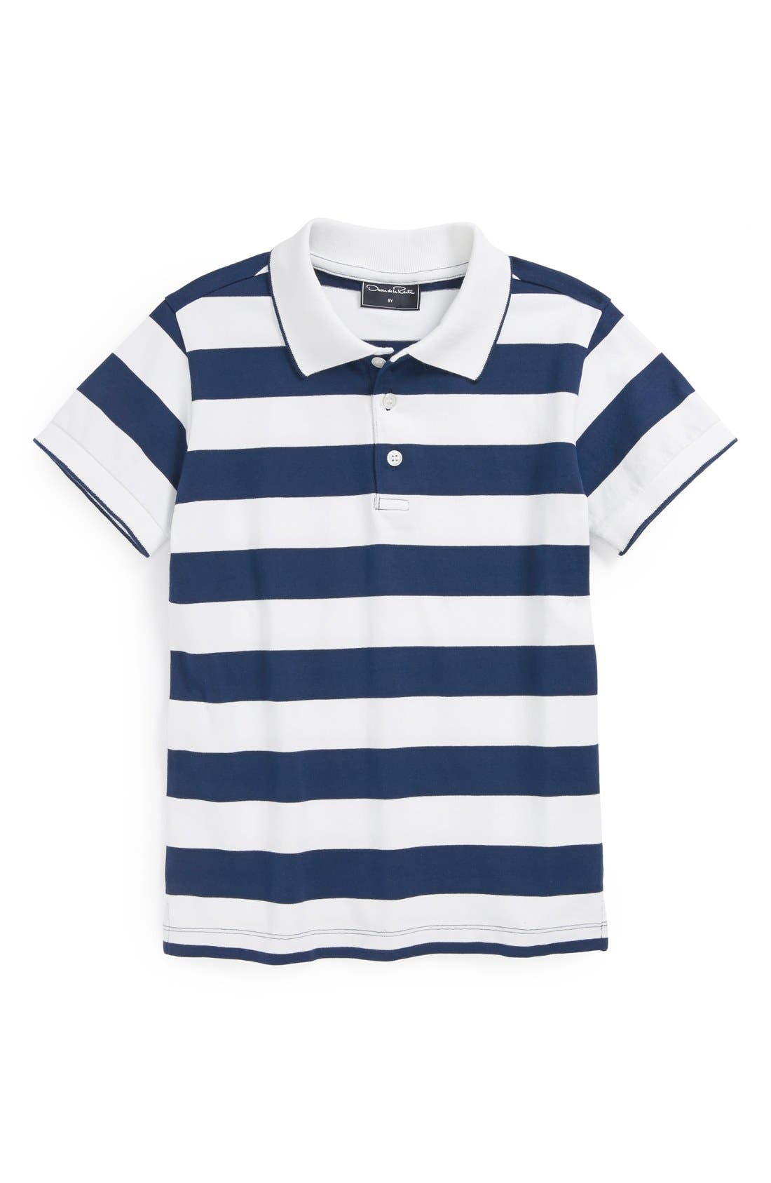 Main Image - Oscar de la Renta Wide Stripe Polo (Toddler Boys, Little Boys & Big Boys)