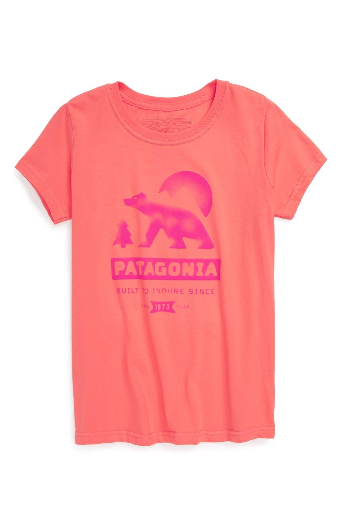 Main Image - Patagonia 'Bear Moon' Organic Cotton Tee (Big Girls)(Online Only)