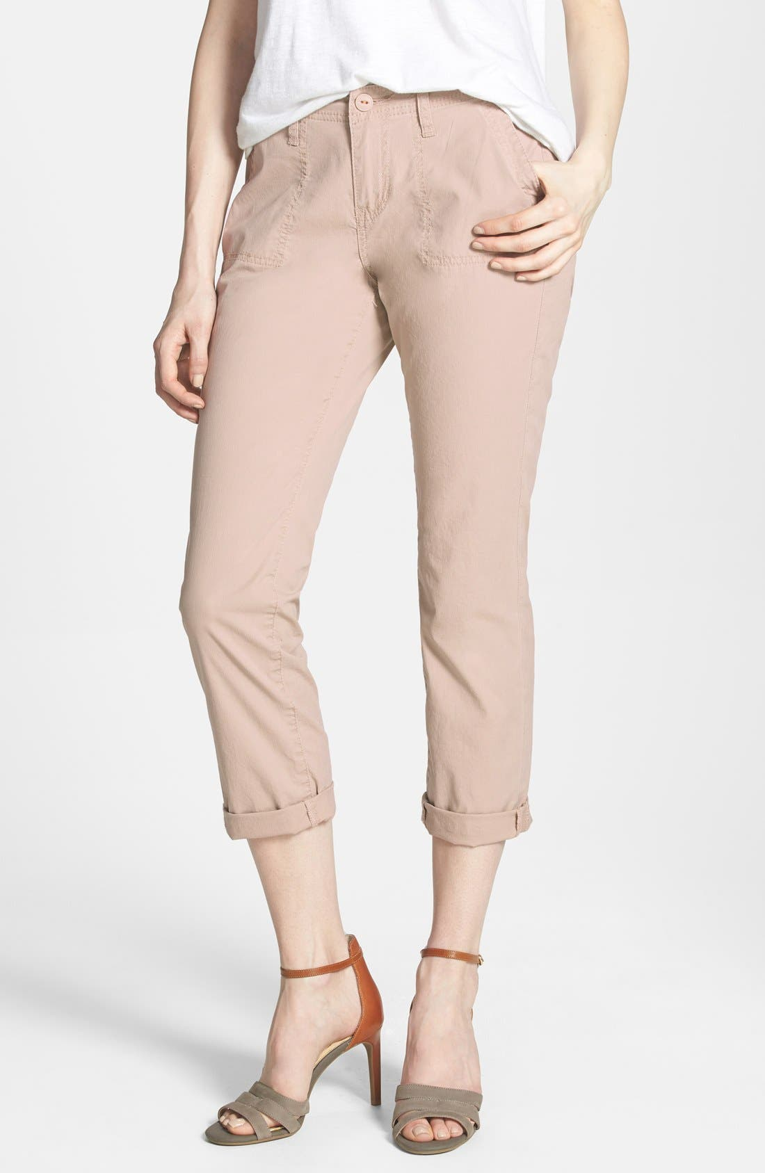 Alternate Image 1 Selected - Jag Jeans 'Andrew Surplus' Stretch Twill Crop Pants (Petite)