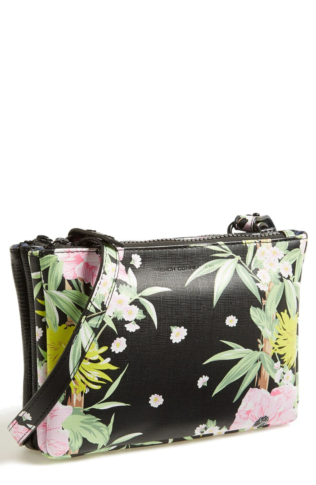Main Image - French Connection 'Mini Gypsy' Faux Leather Crossbody Bag