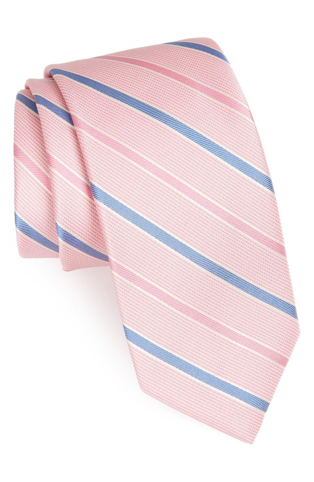 Main Image - Peter Millar Stripe Woven Silk Tie