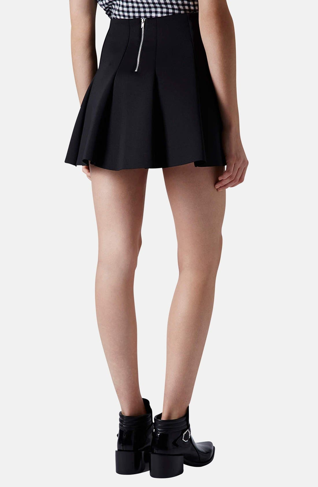 Alternate Image 2  - Topshop Pleat Scuba Skirt (Petite)