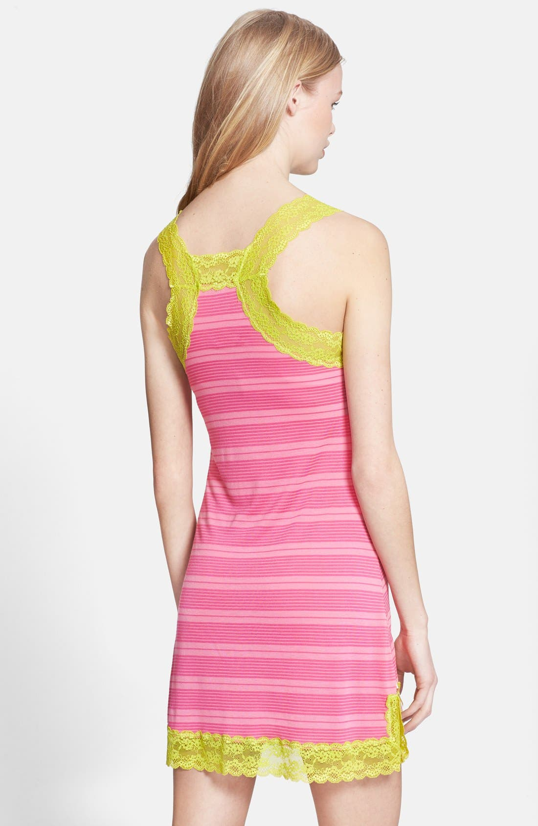 Alternate Image 2  - Honeydew Intimates 'Ahna Shadow' Lace Detail Stripe Chemise