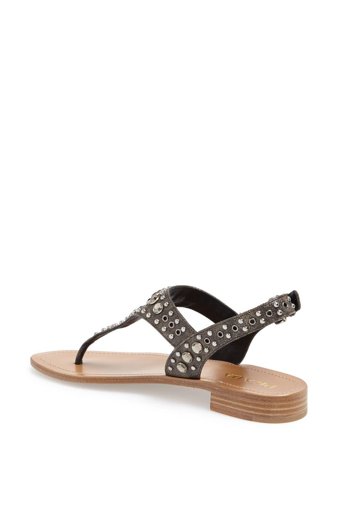 Alternate Image 2  - Prada Studded Sandal