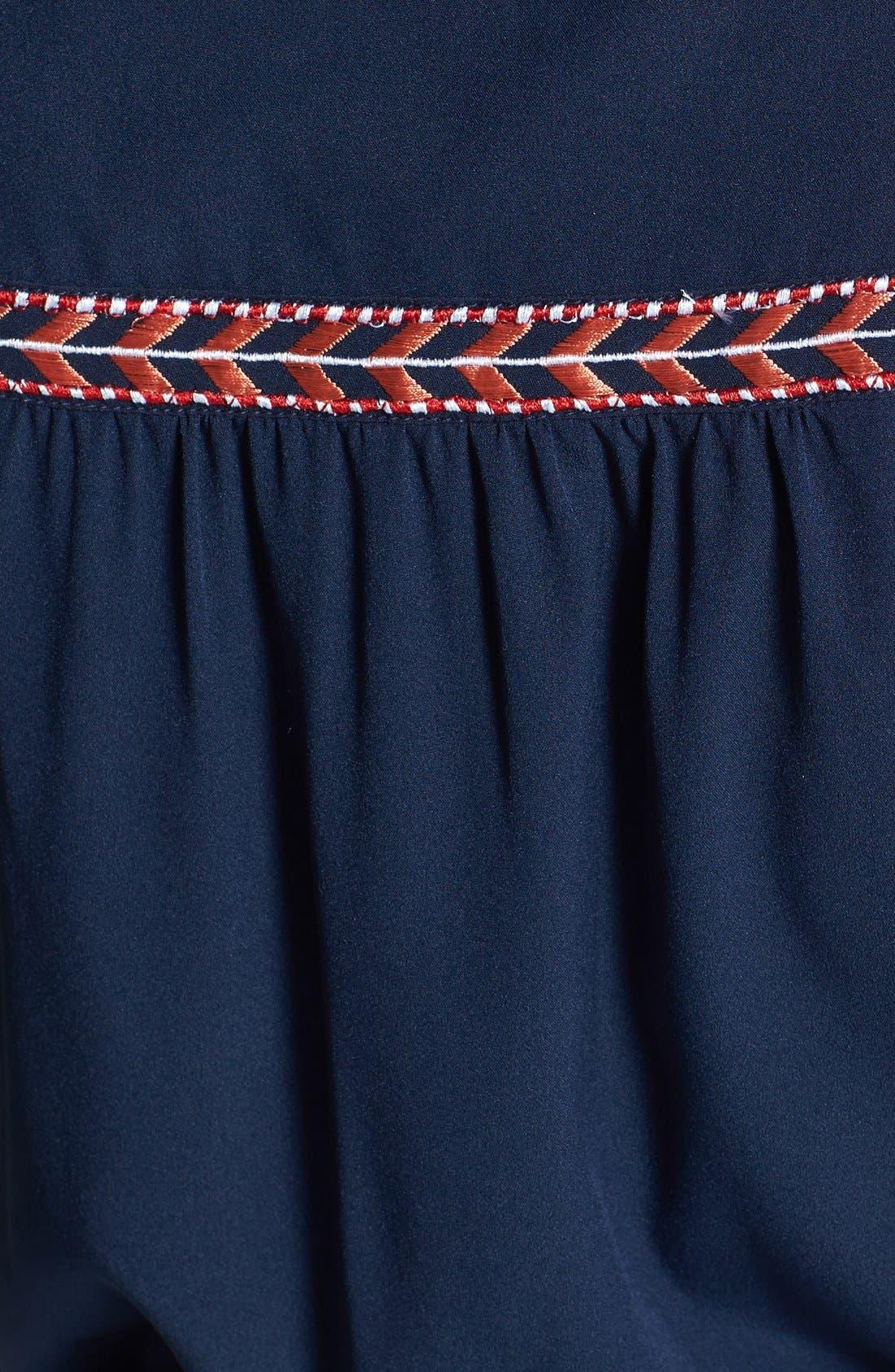 Alternate Image 3  - Olive & Oak Embroidered Trim Maxi Dress