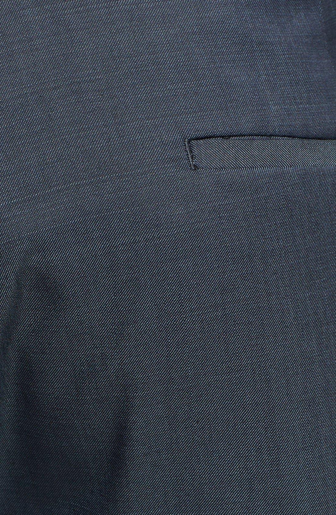 Alternate Image 3  - Topman Skinny Fit Navy Suit Trousers