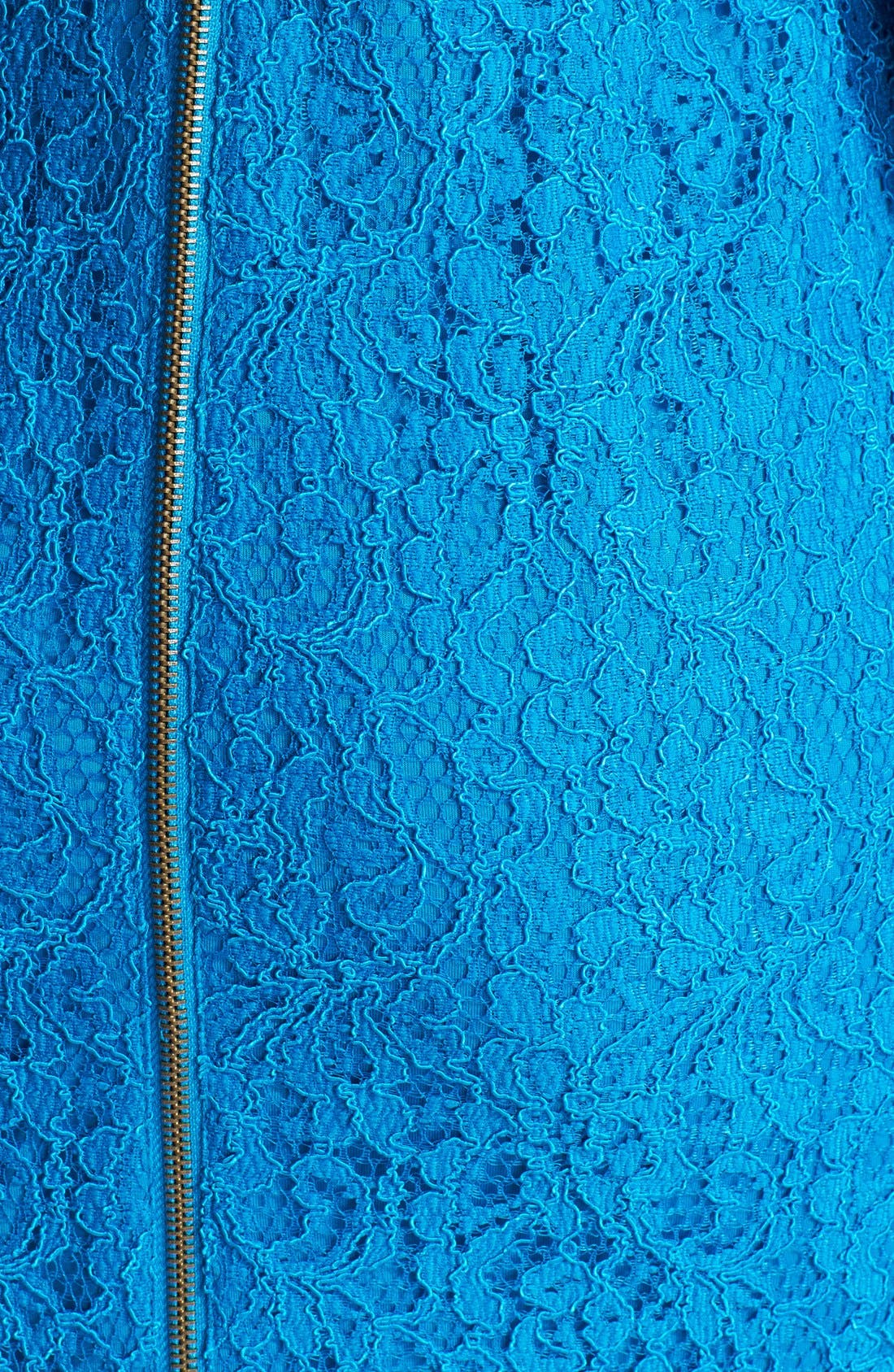 Alternate Image 4  - Adrianna Papell Lace Overlay Sheath Dress (Regular & Petite)