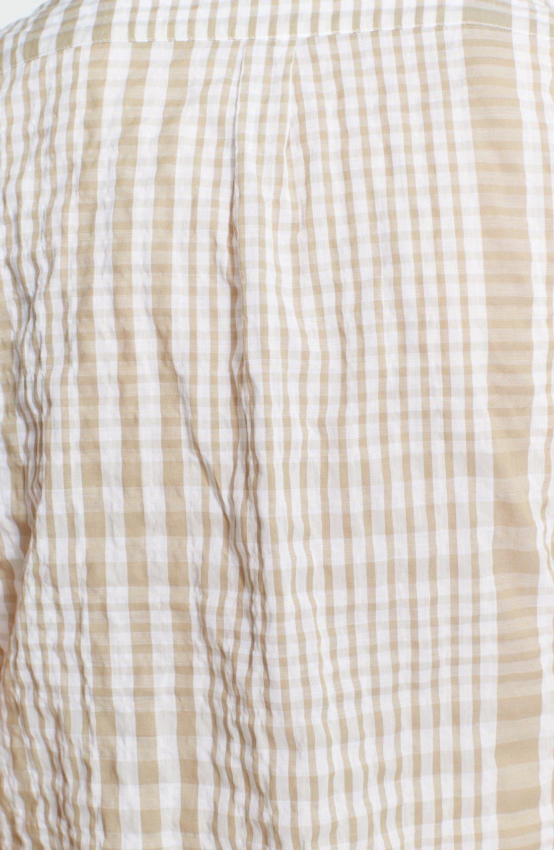 Alternate Image 3  - Burberry Brit Puckered Plaid Shirt