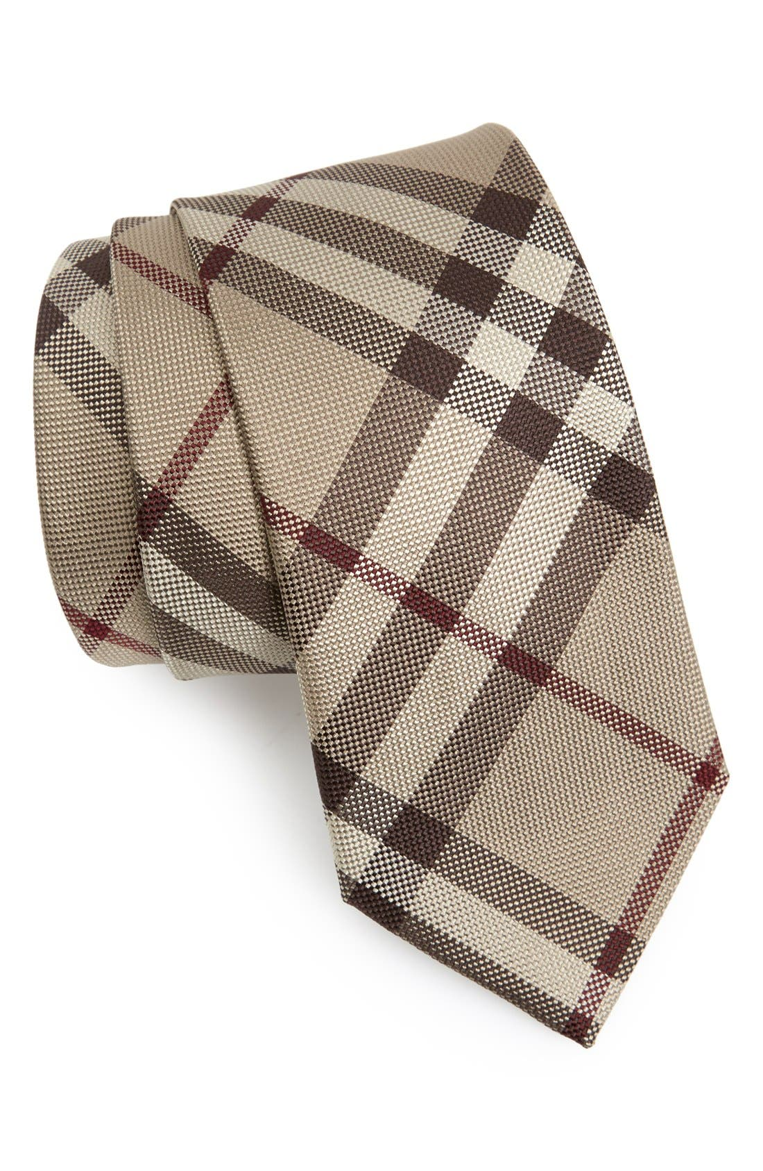 Silk Tie,                             Main thumbnail 1, color,                             Smoked Trench