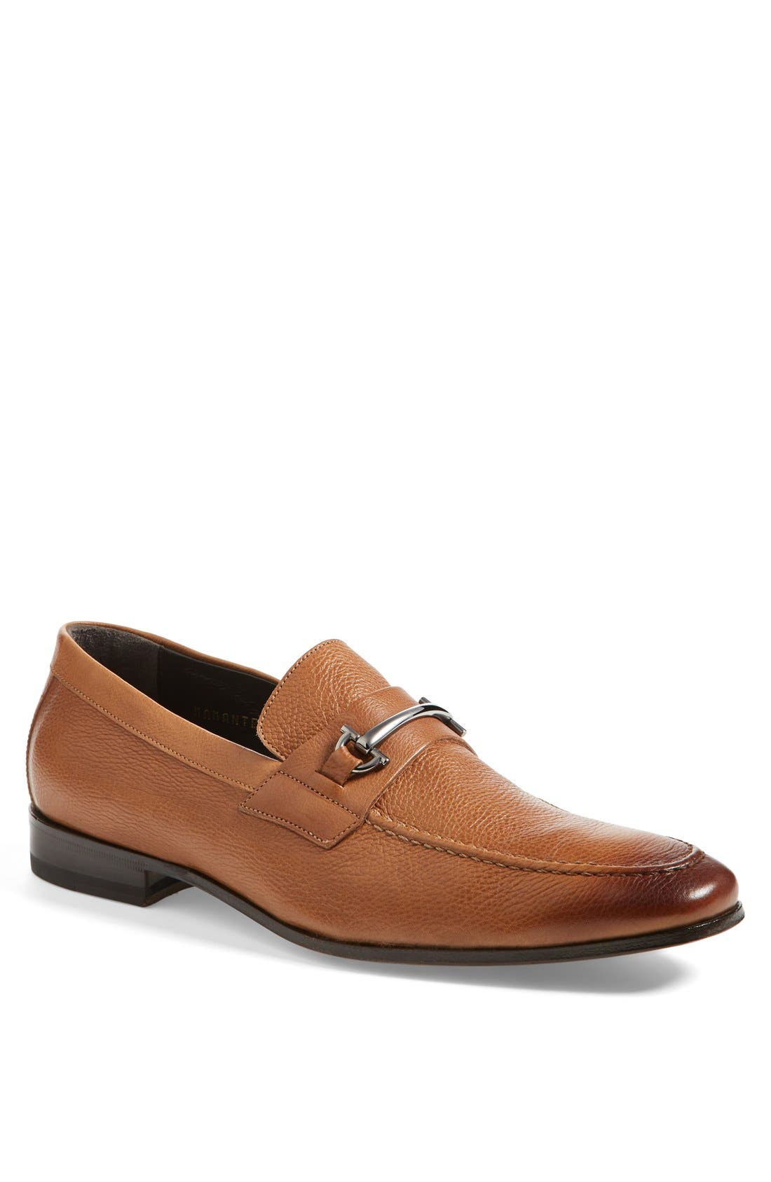 'Mamante II' Pebbled Leather Loafer,                             Main thumbnail 1, color,                             Light Brown