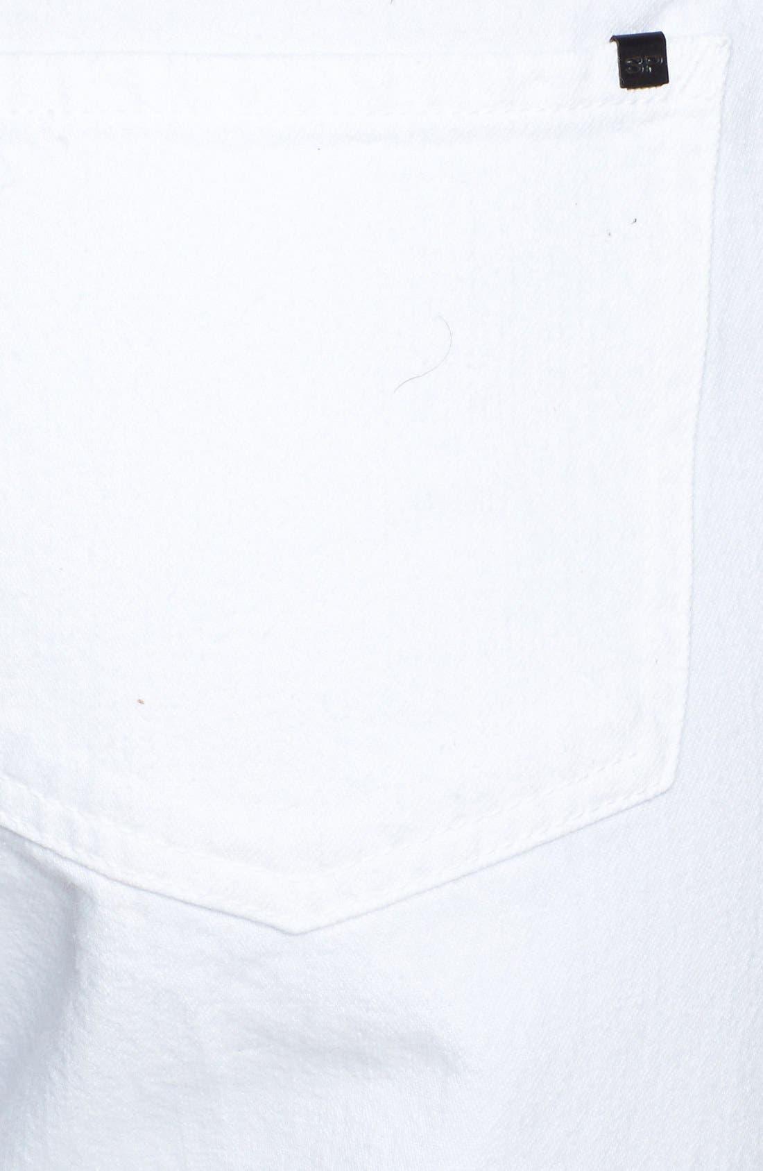 Alternate Image 3  - SP Black Shredded Boyfriend Jeans (White) (Juniors)