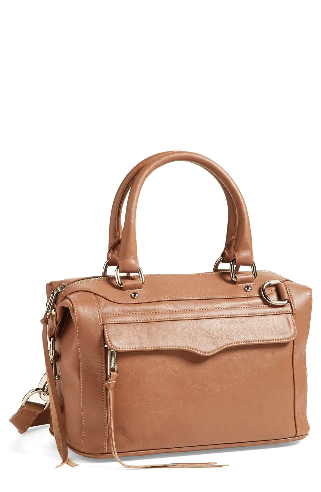 'MAB - Mini' Leather Satchel,                         Main,                         color, Taupe