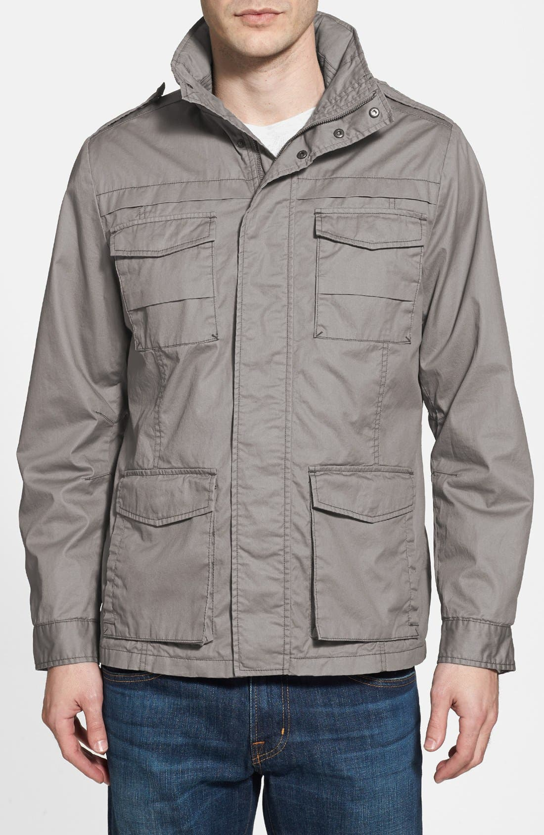 'Thornton' Twill Utility Jacket,                         Main,                         color, Hammer Head