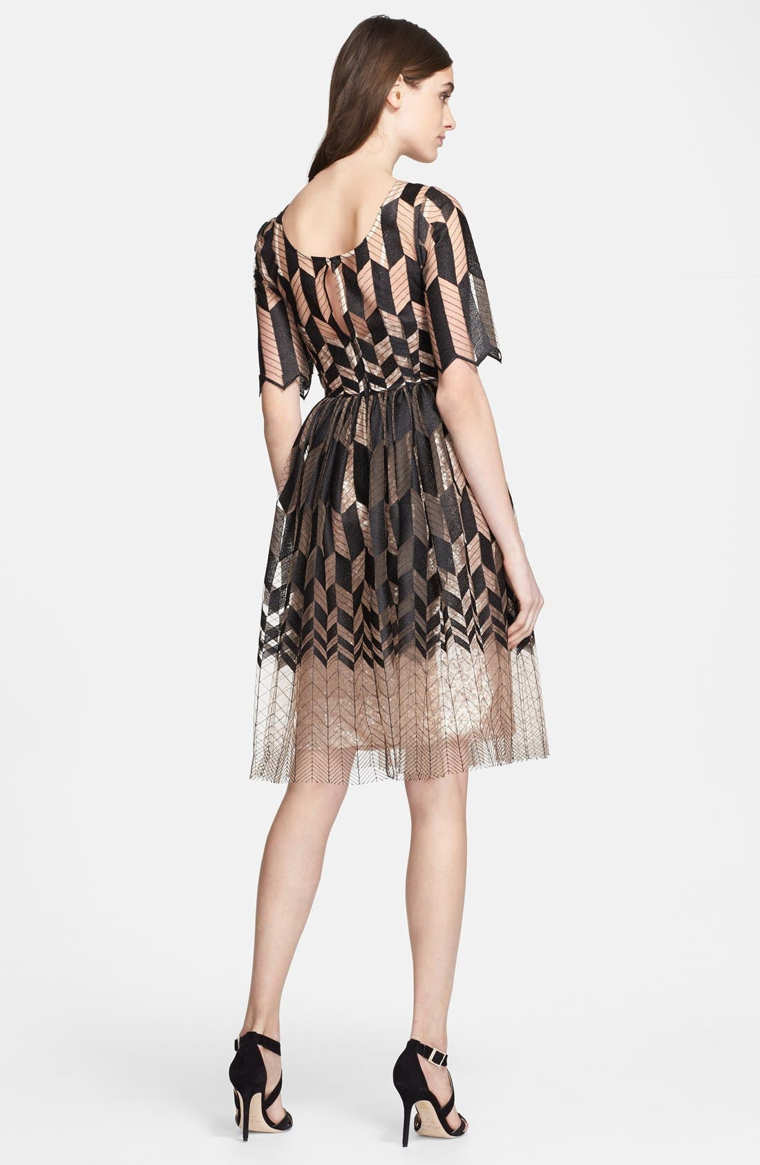 Alternate Image 2  - Tracy Reese Zigzag Fit & Flare Dress