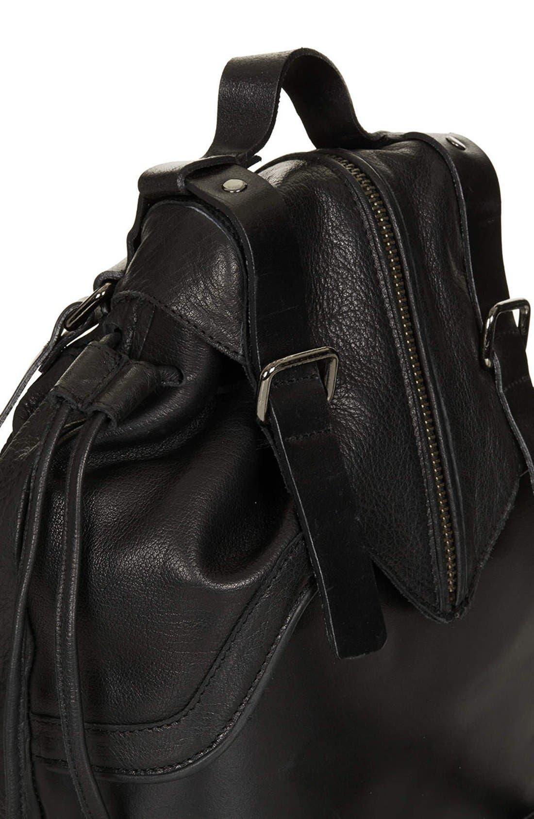 Alternate Image 3  - Topshop Buckled Leather Backpack