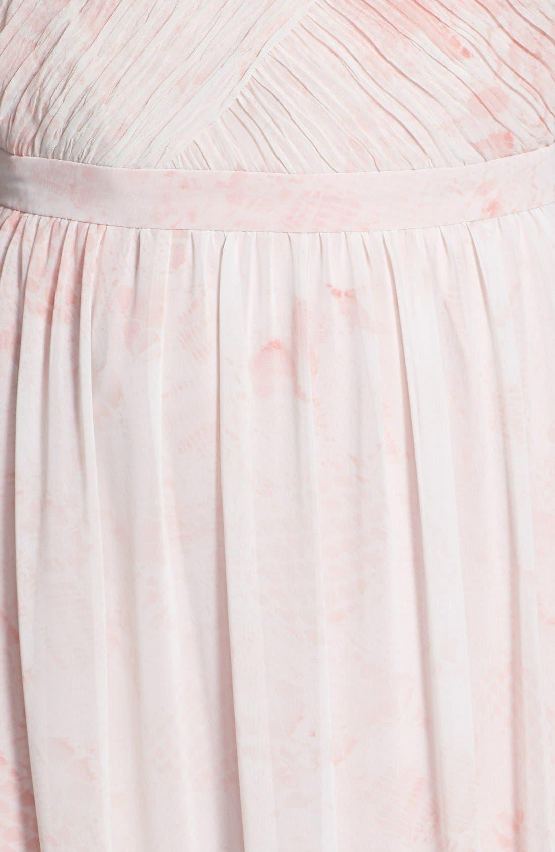 Alternate Image 3  - ERIN erin fetherston 'Rose' Print Chiffon Strapless Gown