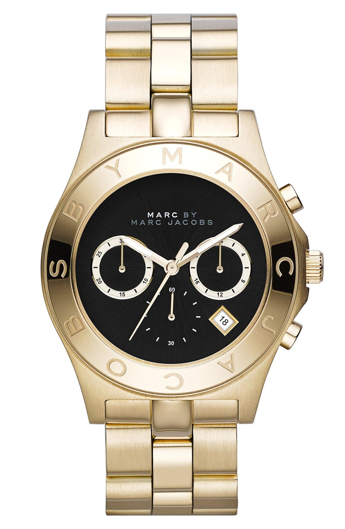 Main Image - MARC JACOBS 'Blade' Chronograph Bracelet Watch, 40mm