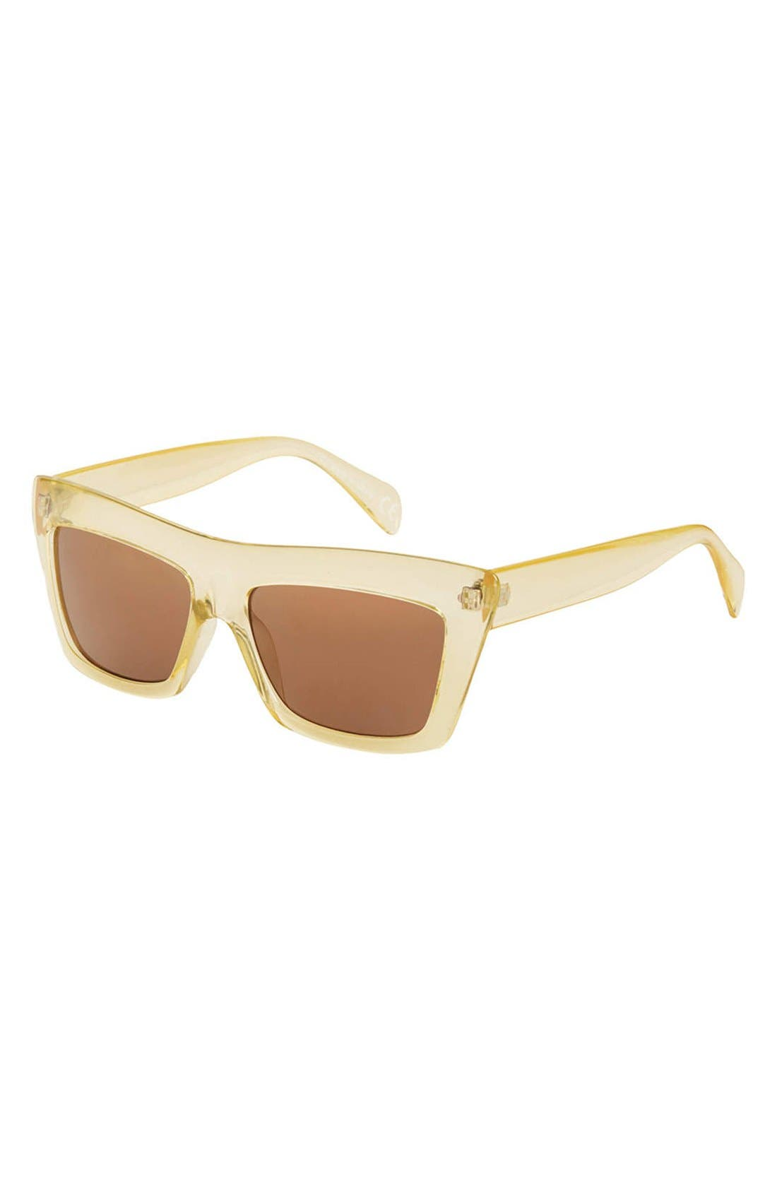 Main Image - Topshop 'Wicked' 55mm Clear Frame Sunglasses