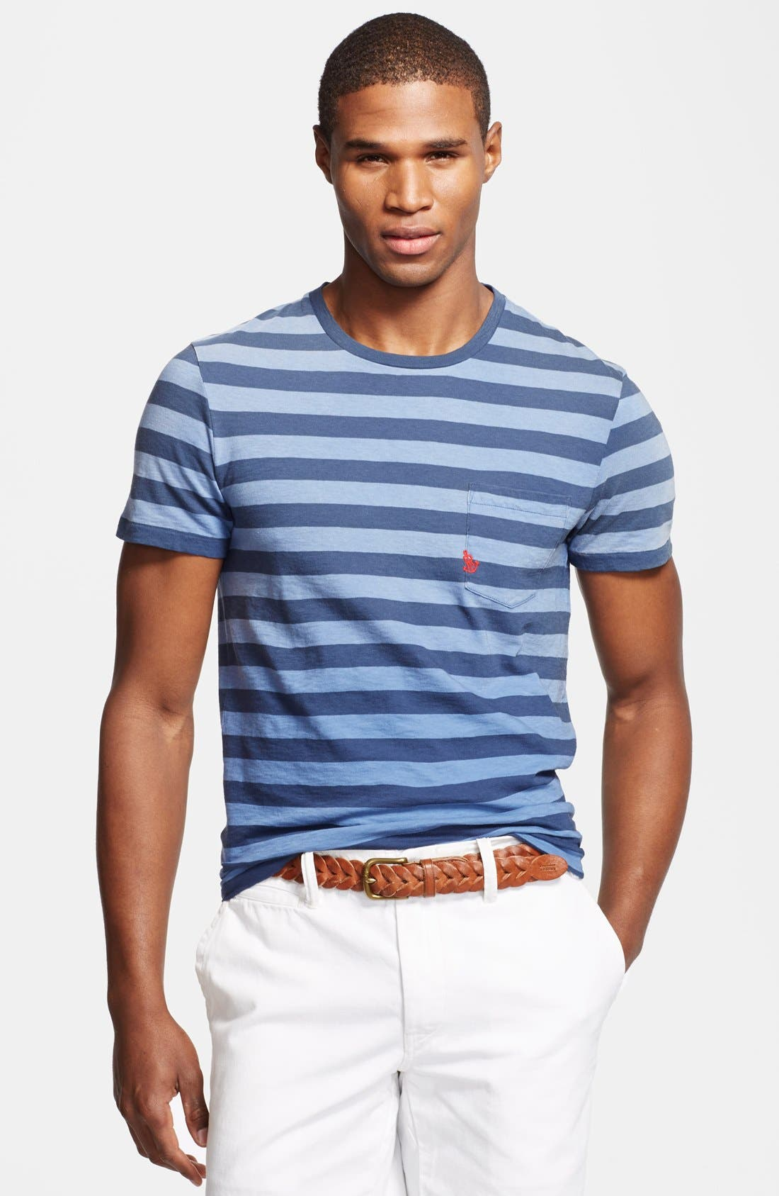 Alternate Image 1 Selected - Polo Ralph Lauren Stripe Crewneck T-Shirt