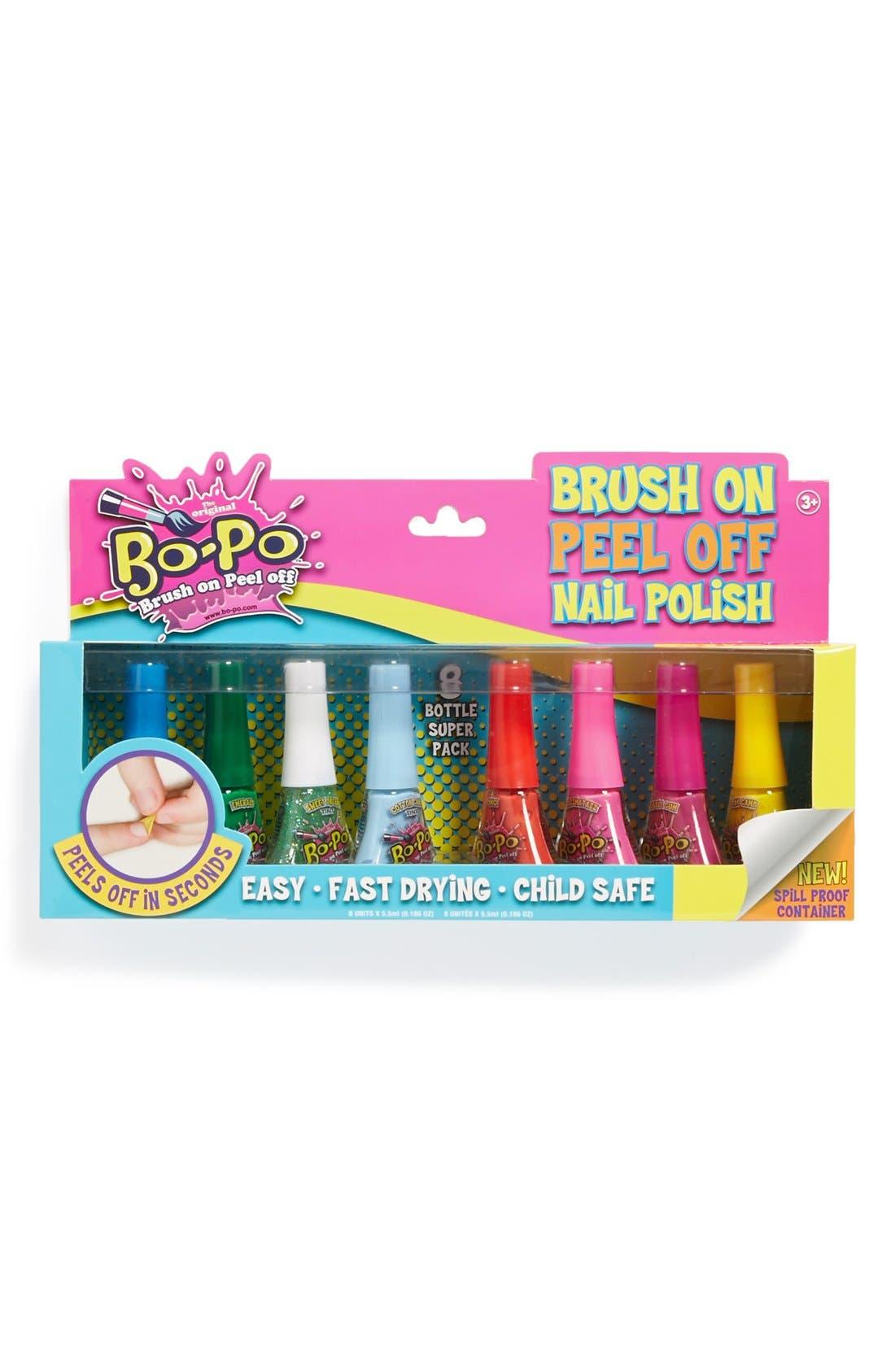 Alternate Image 1 Selected - Bo-Po Peel Off Nail Polish (Set of 8)