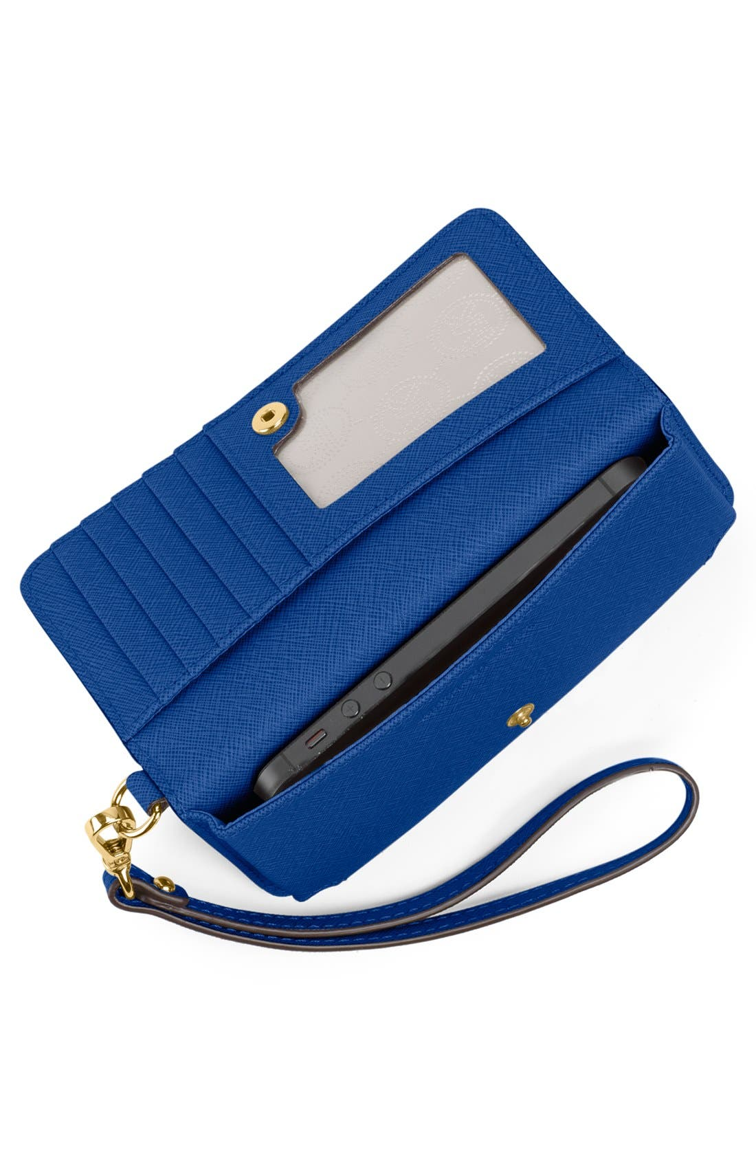 Alternate Image 2  - MICHAEL Michael Kors Saffiano Phone Wallet
