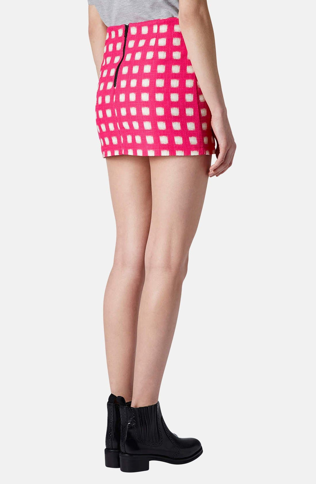 Alternate Image 2  - Topshop Grid Print Cotton Miniskirt
