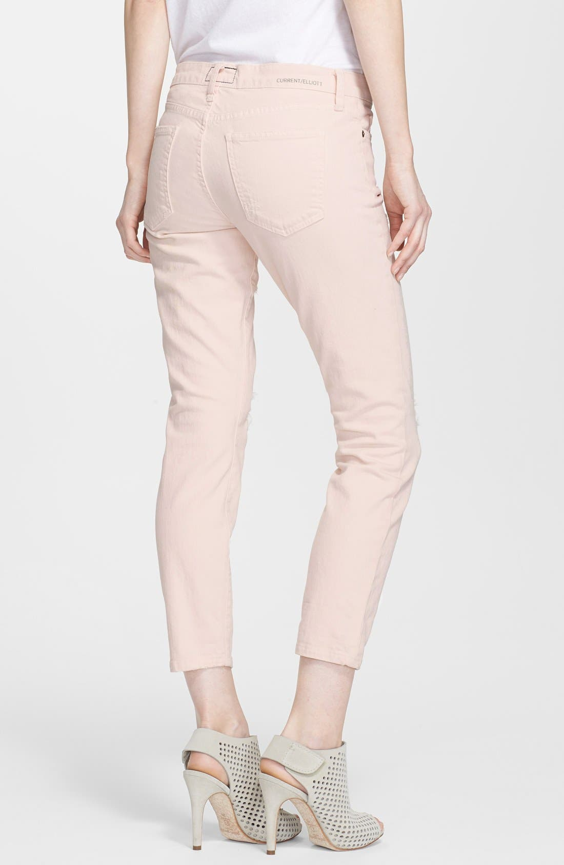Alternate Image 2  - Current/Elliott 'The Stiletto' Jeans (Dusty Pink)