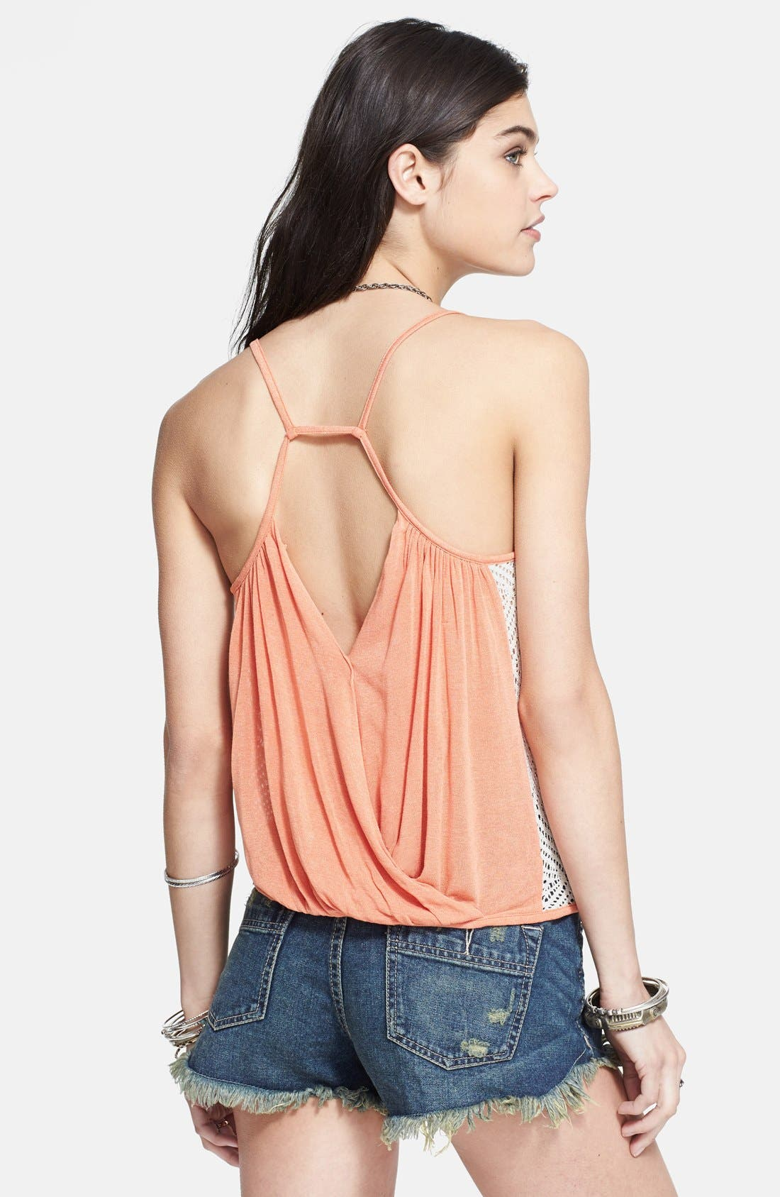 Alternate Image 2  - Free People 'Miles Away' Crochet Panel Cutout Draped Tank