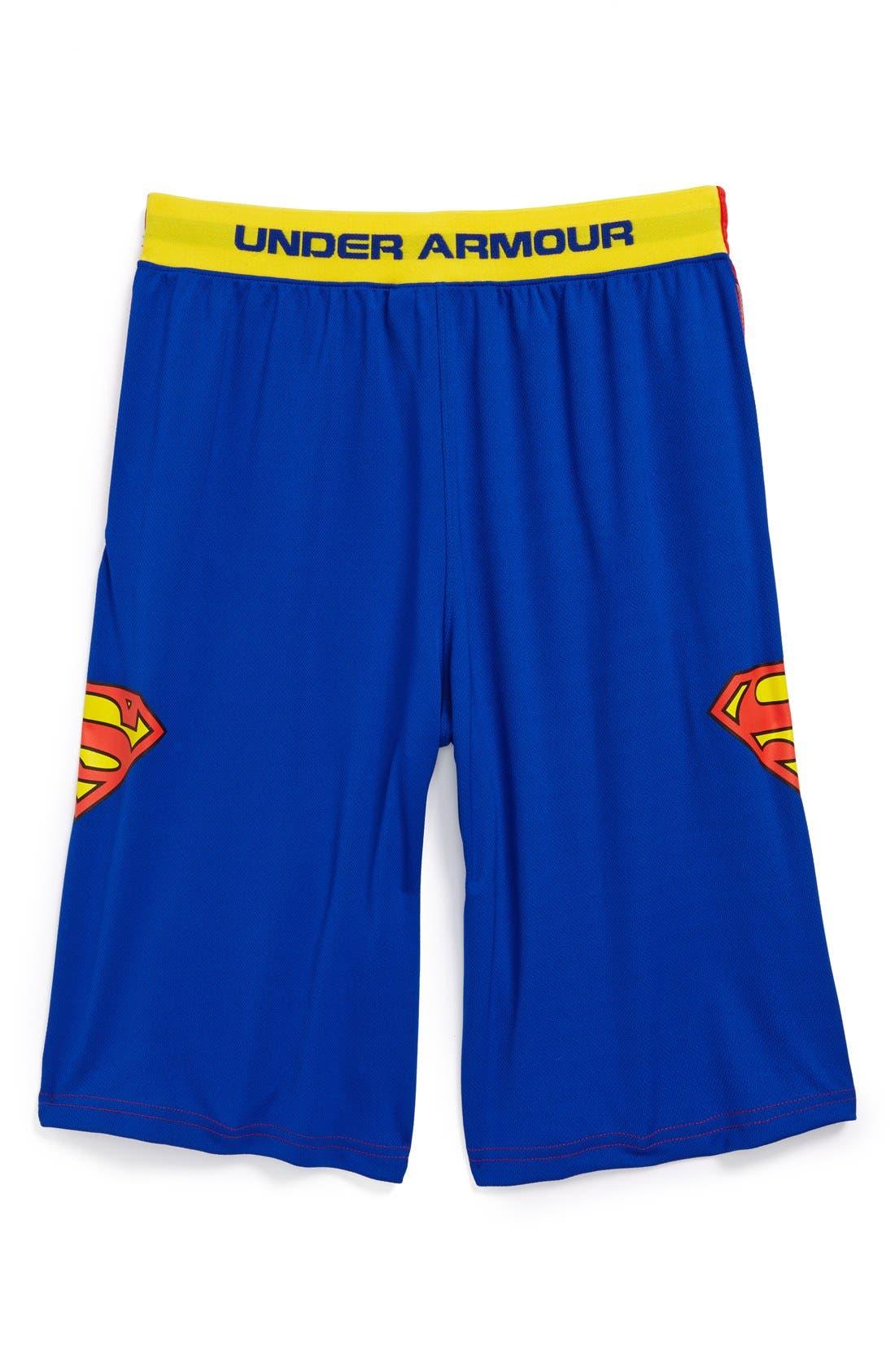 Main Image - Under Armour 'Alter Ego - Superman' Shorts (Little Boys & Big Boys)