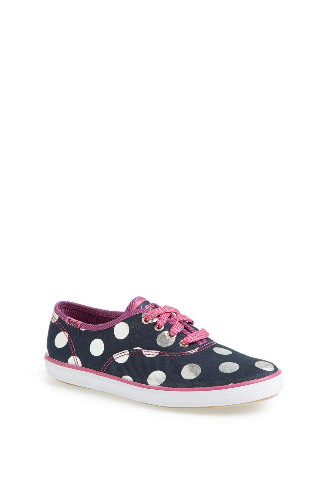 Alternate Image 1 Selected - Keds® 'Champion' Polka Dot Sneaker (Walker, Toddler, Little Kid & Big Kid)